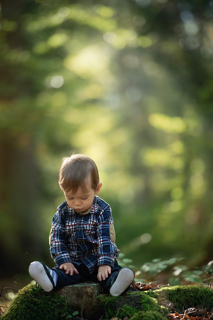 Kleiner Junge im Wald - Fotoshooting an den Bärenseen